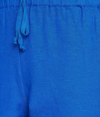 Deep Flared Tie Pant Blue Knot rtPOwqr