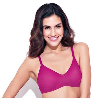 eb6ca0062cb6d Buy Enamor 1 Padded Cotton T-shirt Bra - Pink Online at Low Prices ...