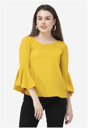 Dege Women Floral Regular top - Yellow