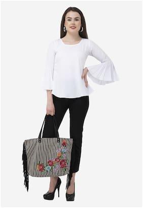 Dege Women Solid Regular top - White