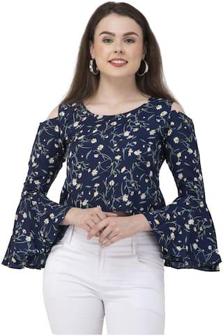 Dege Women Floral Regular top - Blue