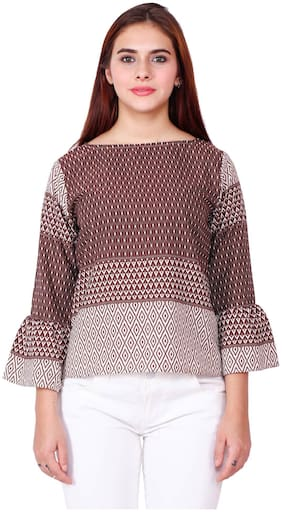 Delux Look Women Embroidered Regular top - Multi