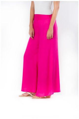 DESI WEAVESS Cotton Palazzos - Pink