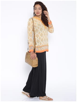 Weavess Bold Rayon Desi Palazzos Colored Black Solid Sdq7wZ