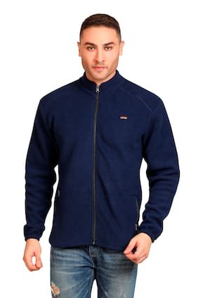Devagabond Men Blue Solid Sports jacket