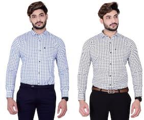 DEZANO Men Multi Checked Regular Fit Casual Shirt