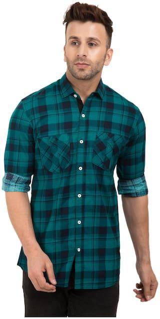 Dezano Mens Checkred Full Sleeve casual Shirt