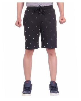 Dfh Black Printed Men Shorts