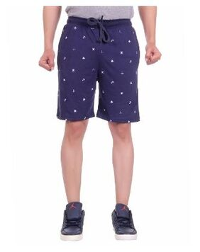 Dfh Blue Printed Men Shorts