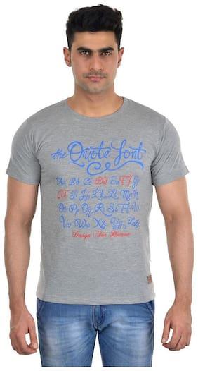 Dfh Grey Printed Men T-shirt