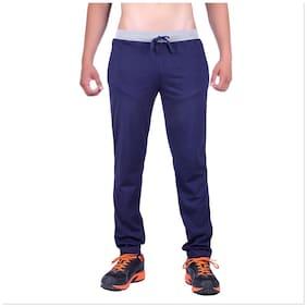 DFH Men Poly Cotton Track Pants - Blue
