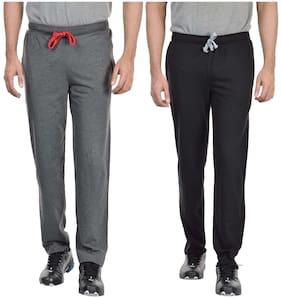 DFH Men Poly Cotton Track Pants - Black