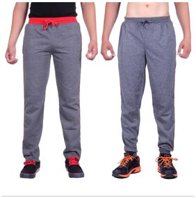 DFH Men Poly Cotton Track Pants - Grey