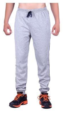 DFH Men Poly Cotton Track Pants - Grey
