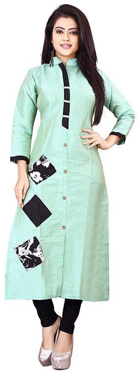 Dhruvi Trendz Women's Cotton Straight Kurti (DT-K2093)