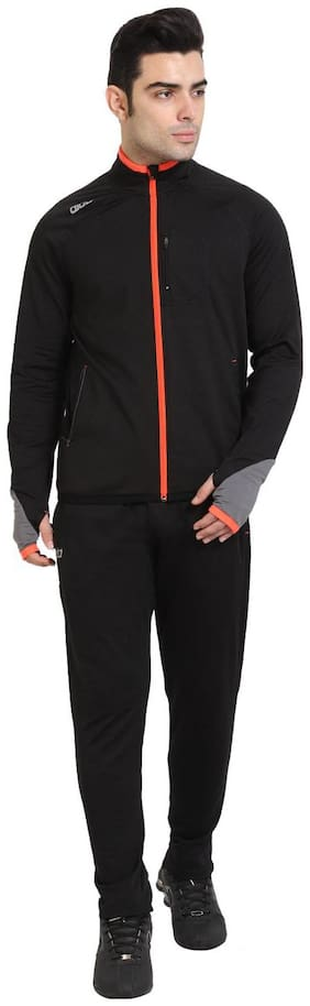 Dida Men Spandex Track Suit - Black