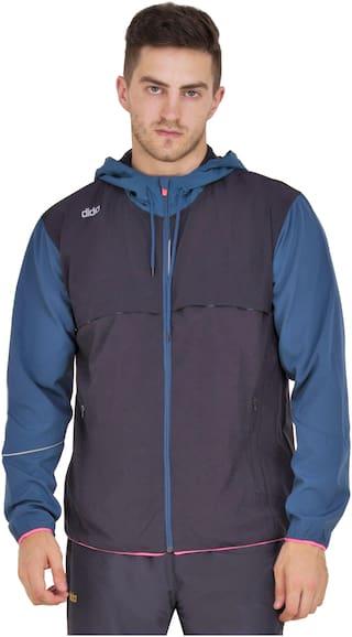 Dida Men Polyester Jacket - Navy blue