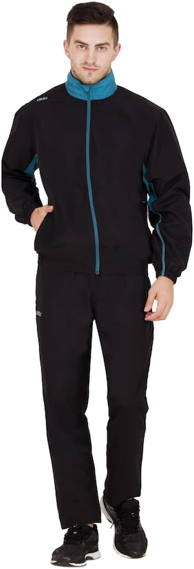 Dida Men Polyester Track Suit - Black