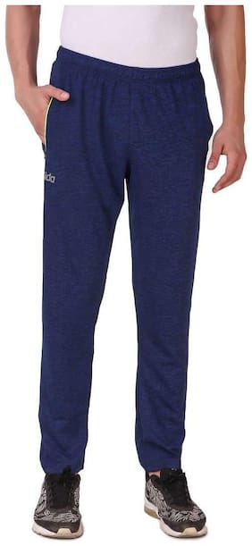 Dida Men Blue Solid Regular fit Track pants