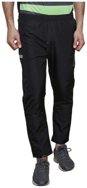 Dida Men Black Solid Regular fit Track pants