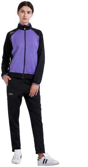 Dida Women Fleece Track Suit - Black