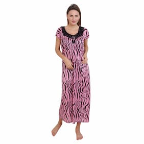DILJEET Pink Night Gown