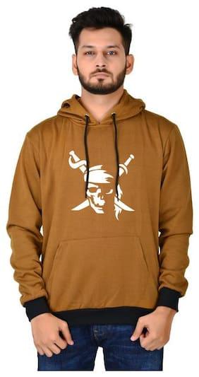 DIVRA CLOTHING Men Brown Hooded Hoodie