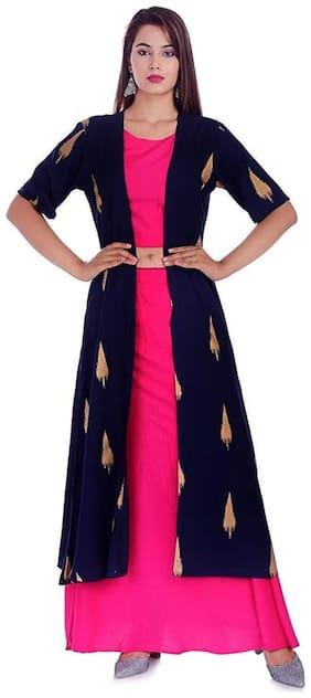 Divyanshi Fashions Women'S Top;Skirt And Shrug Multi