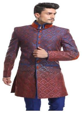Diwan Saheb Silk Medium Sherwani - Multi