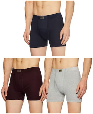 DIXCY SCOTT Solid Trunks - Assorted ,Pack Of 3