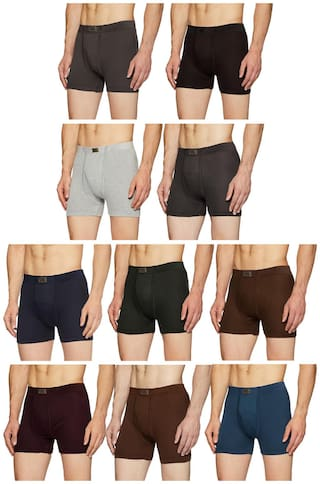 DIXCY SCOTT Solid Trunks - Assorted ,Pack Of 10