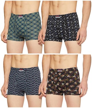 DIXCY SCOTT Printed Trunks - Assorted ,Pack Of 4