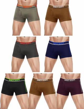 DIXCY SCOTT Solid Trunks - Assorted ,Pack Of 7