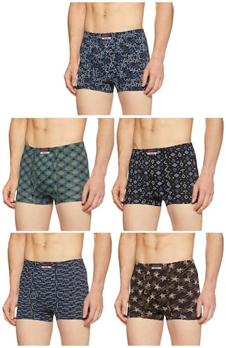 DIXCY SCOTT Printed Trunks - Assorted ,Pack Of 5