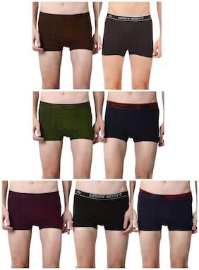 Men Cotton Solid Underwear ,Pack Of 7