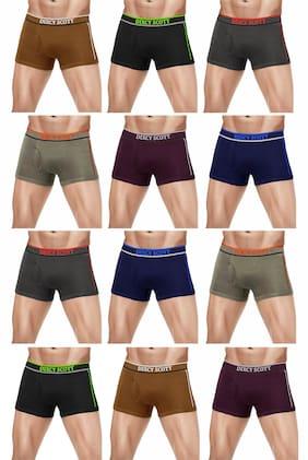 Men Cotton Solid Underwear ,Pack Of 12