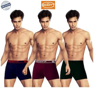Dixcy Scott Uno Series Solid Trunks - Multi ,Pack Of 3