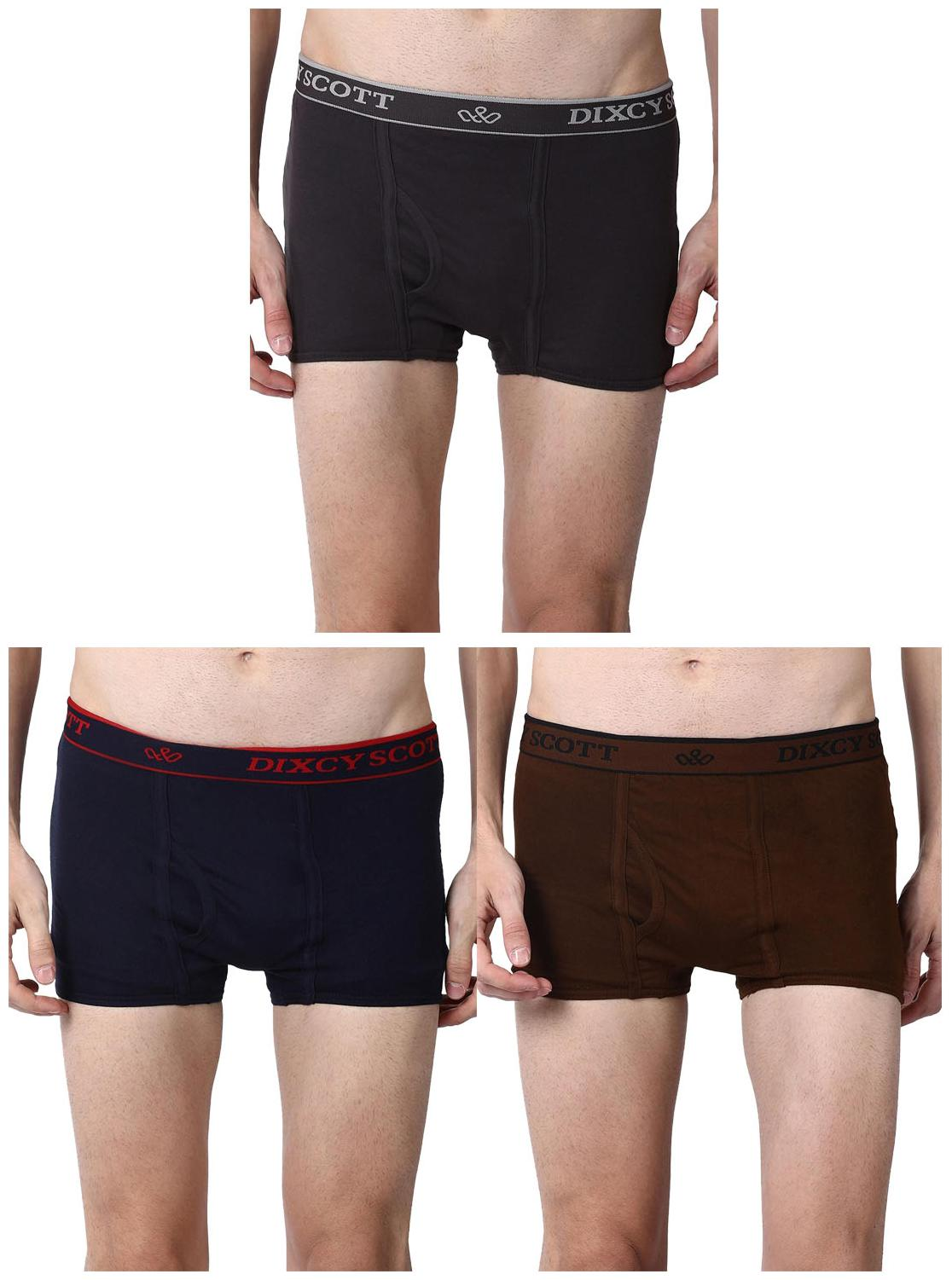 DIXCY SCOTT Solid Trunks   Assorted ,Pack Of 3 by Kuku Ki Dukaan