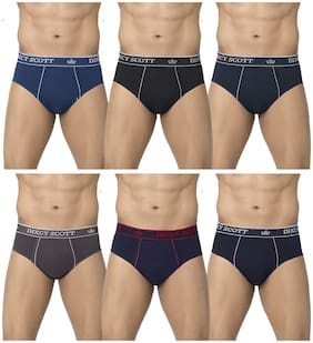 Men Cotton Solid Underwear ,Pack Of 6