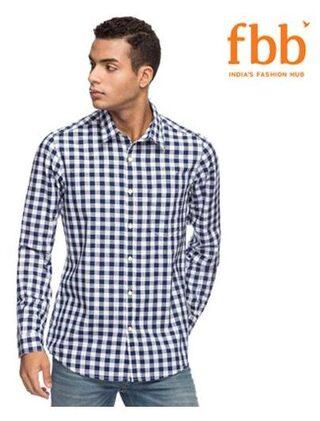 DJ&C Men Regular Fit Casual shirt - Blue
