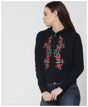 DJ&C Women Floral Sweatshirt - Black