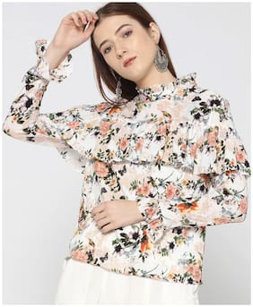 Women Floral High Neck Top