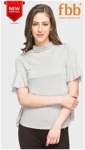 d27facec9 DJ C Women Cotton Solid - A-line Top White