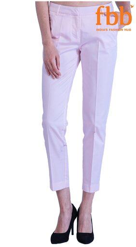 DJ&C Women Regular fit Solid Pants - Purple