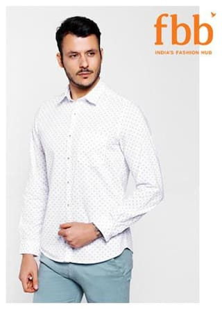 DJ&C Men Regular fit Casual shirt - White