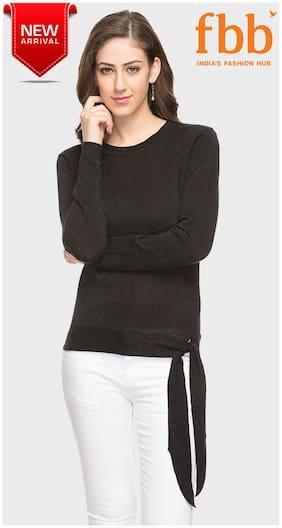 e45f8c1dc4152 DJ C Shimmer Women s Black Sweater with ...