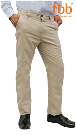 479cd3d987a Buy DJ&C Slim Fit Men's Off White Trousers Online at Low Prices in ...