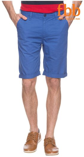DJ&C Solid Men's Blue Shorts