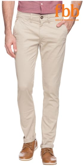 DJ&C Solid Men's Casual Trousers