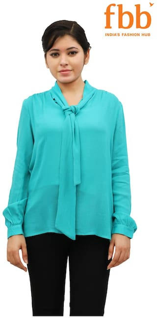 65e4037767 Buy DJ&C Solid Women's Green Top FBB Online at Low Prices in India ...